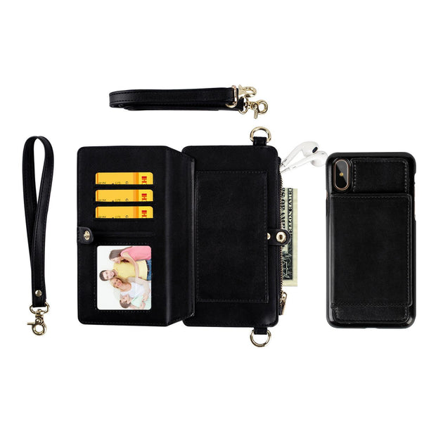 Wallet Case with Kickstand and Flip Cover for iPhone