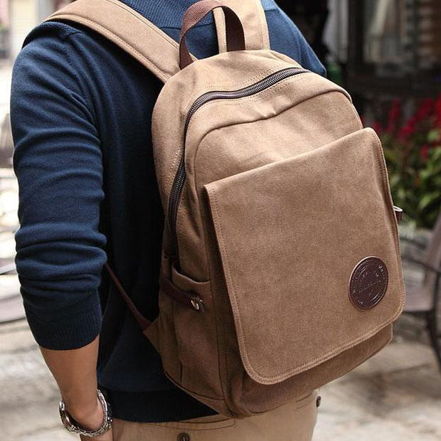 Muzee Vintage Canvas Laptop Travel Backpack