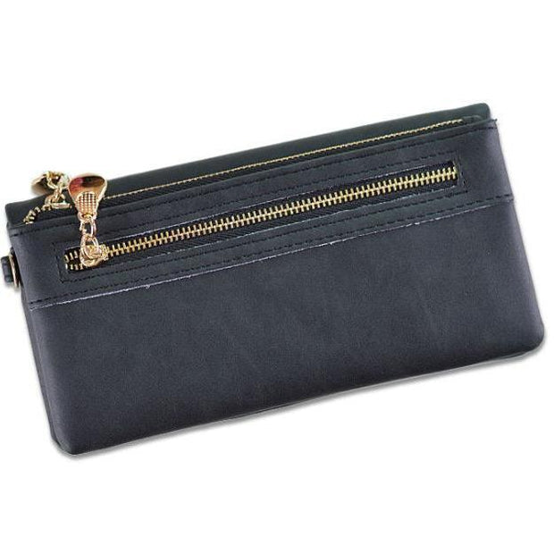 Women Zipper Matted Purse