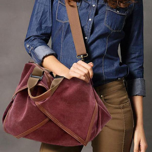 Women Multifuctional Canvas Shoulder Bag