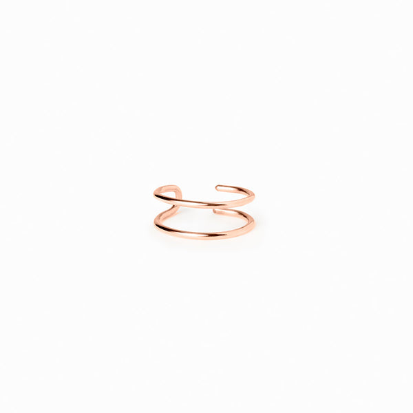 14K Rose Gold Minimal Ear Cuff