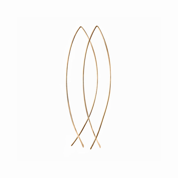 Elke Van Dyke Design 14K Gold Oval Hoop Earrings