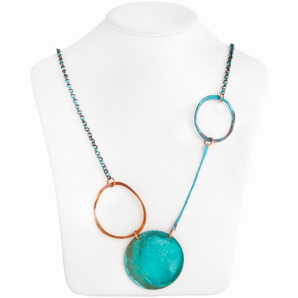Blue Hole Necklace in Verdigris