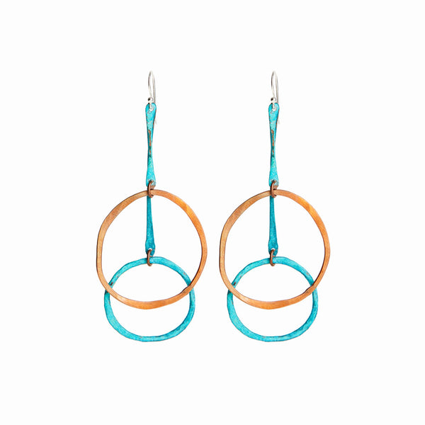 Copper Sea Cirque Earrings