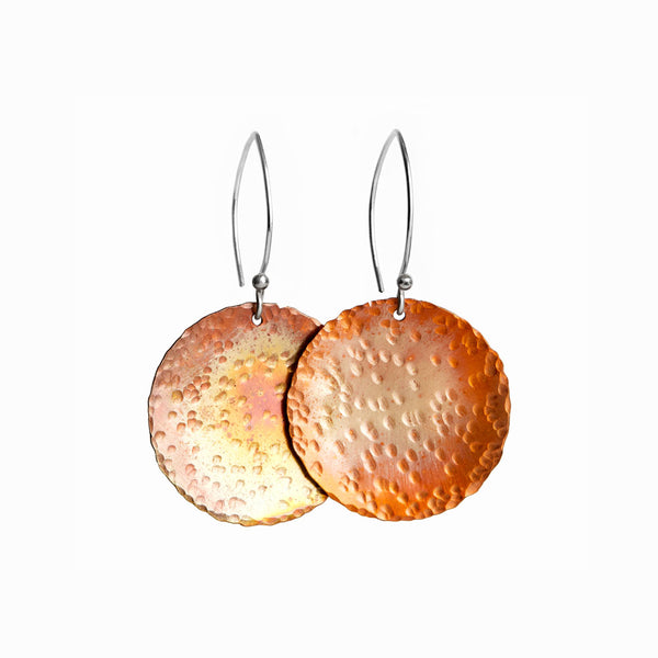 Large Copper Sol Earrings