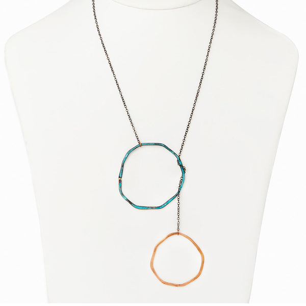 Double Sea Stone Lariat Necklace