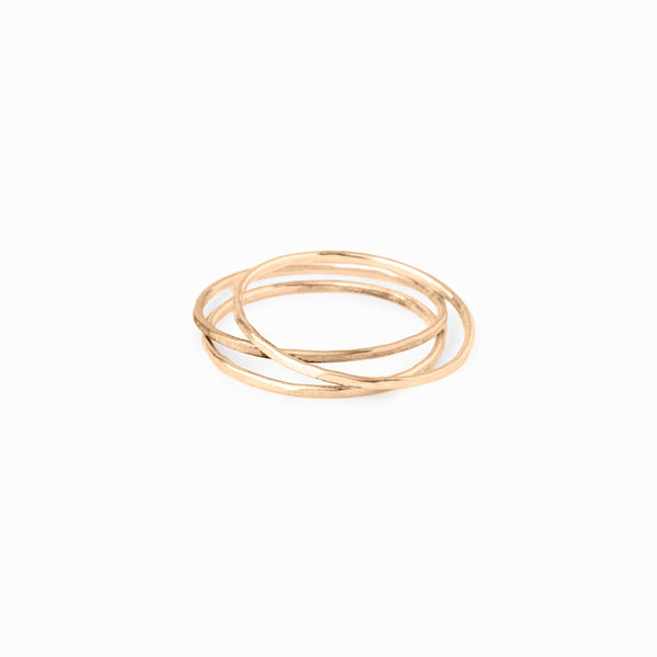 Gold Stacking Ring - Set of 3