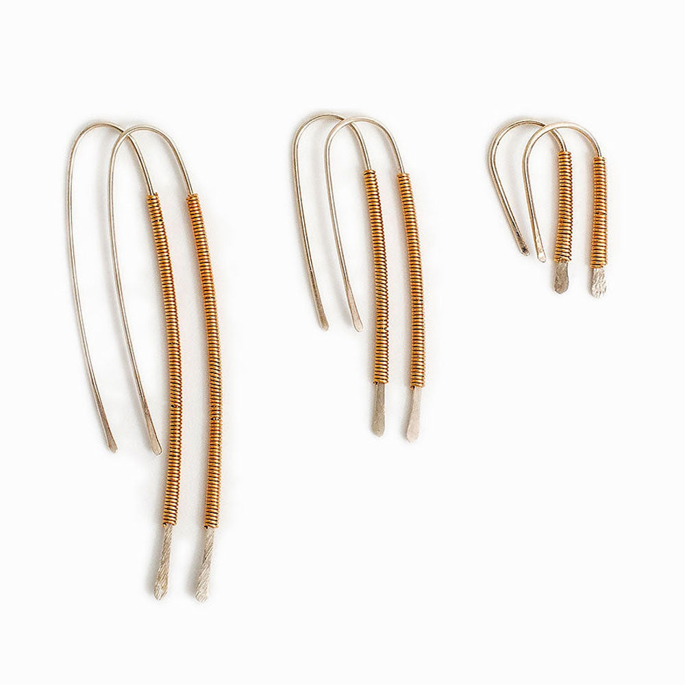 Gold Wrapped Sterling Silver Threader Earrings
