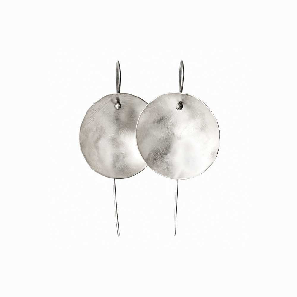 Large Silver Moon Earrings