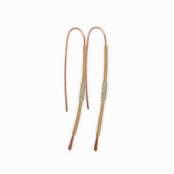 Mixed Metal Threader Earrings