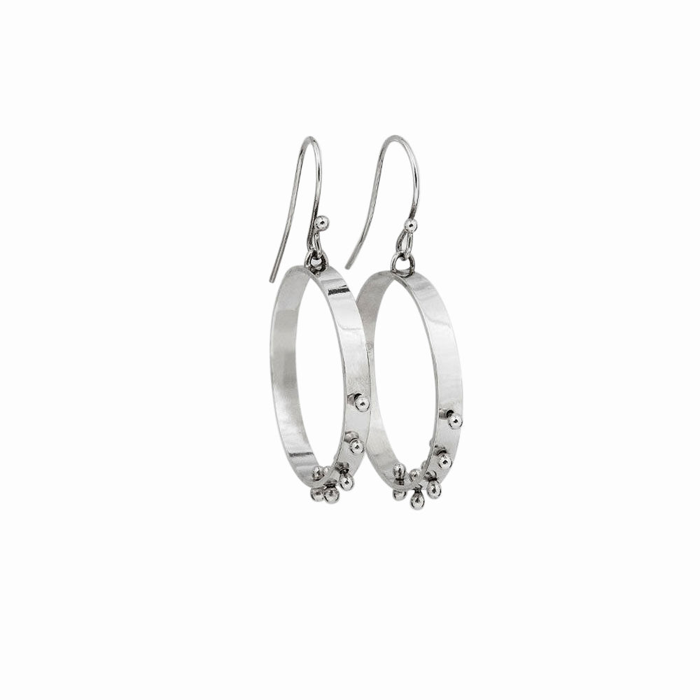 Elke Van Dyke Design Moonscape Hoop Earrings Front View
