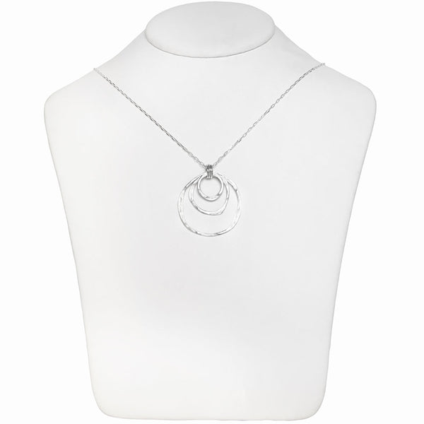 Orbit Trio Ring Pendant Necklace
