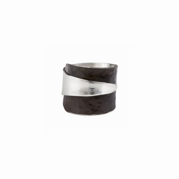 Oxidized Silver Wrap Ring