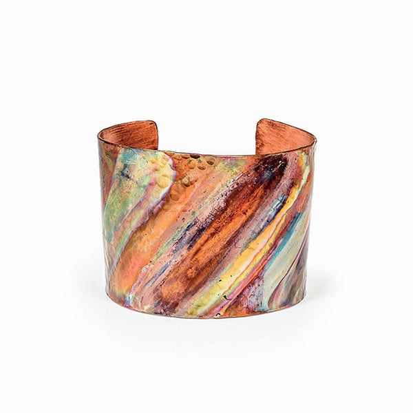 Rainbow Copper Cuff Bracelet