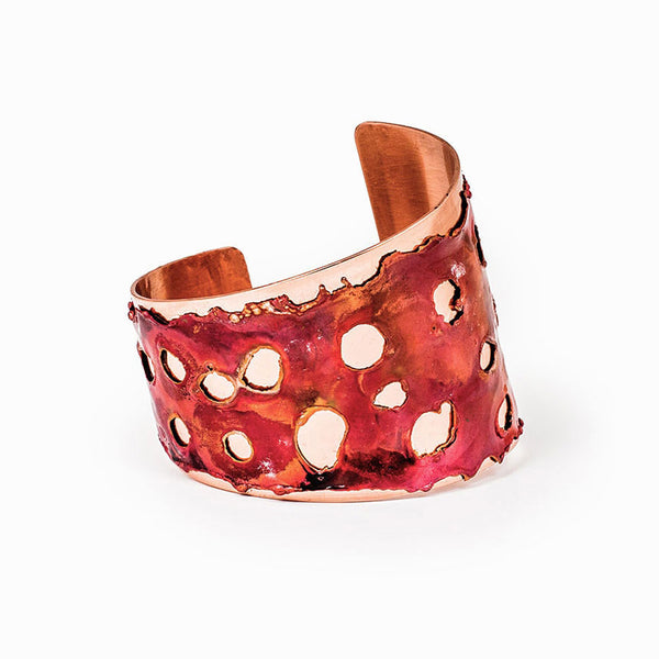 Red Sea Asymmetrical Cut Copper Cuff Bracelet