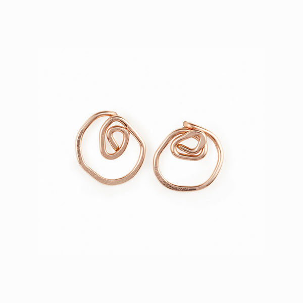 Rose Gold Rose Stud Earrings