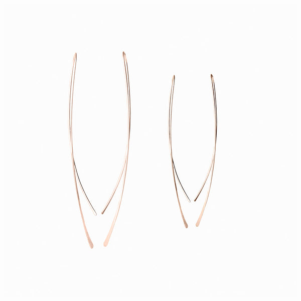 Rose Gold Wisp Threader Earrings