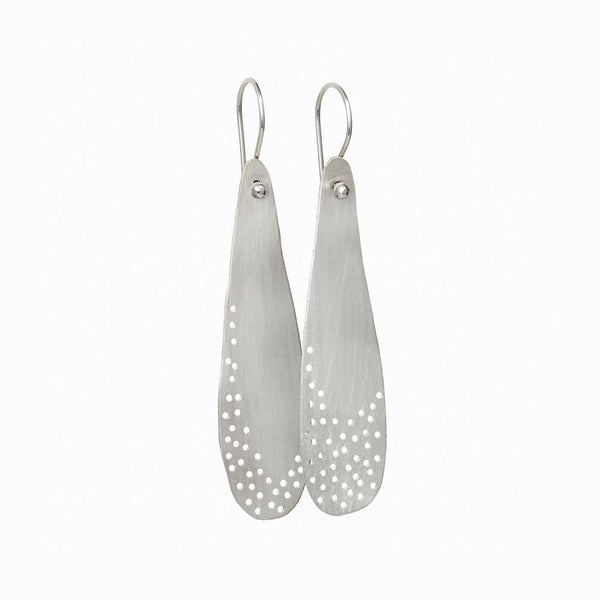 Silver Moon Dust Drop Earrings