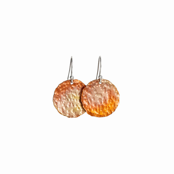 Small Copper Sol Earrings