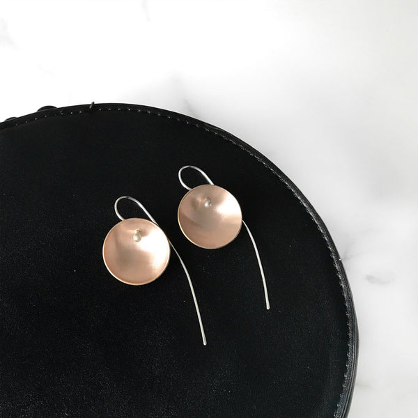Small Gold Moon Earrings