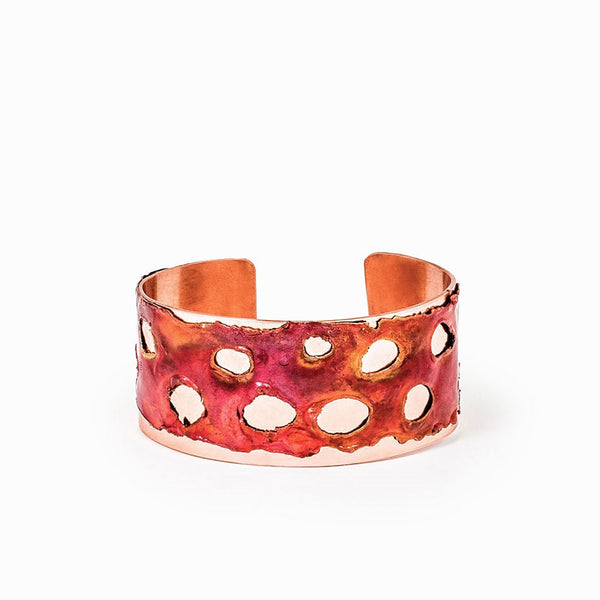 Small Red Sea Copper Cuff Bracelet