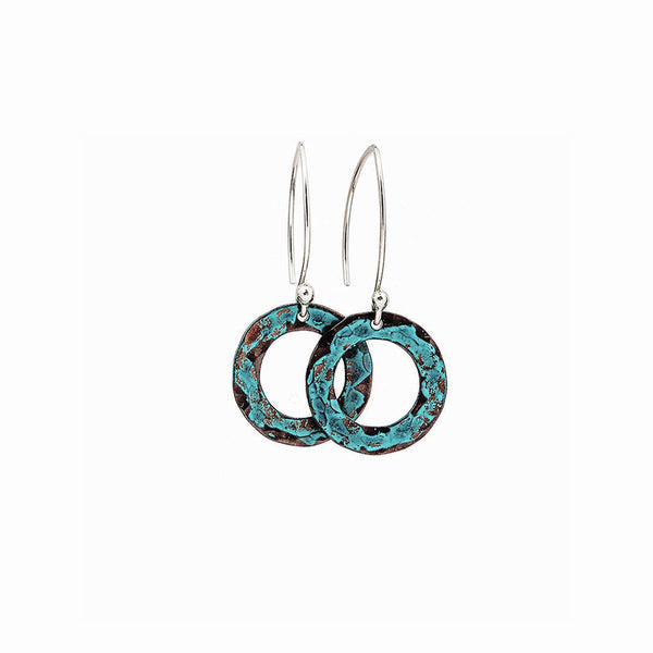 Elke Van Dyke Design Small Turquoise Hoop Earrings
