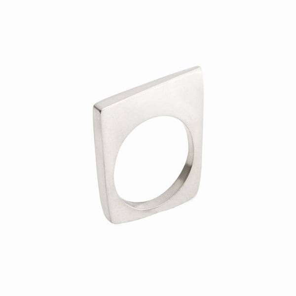 Elke Van Dyke Design Tall Block Ring Side View