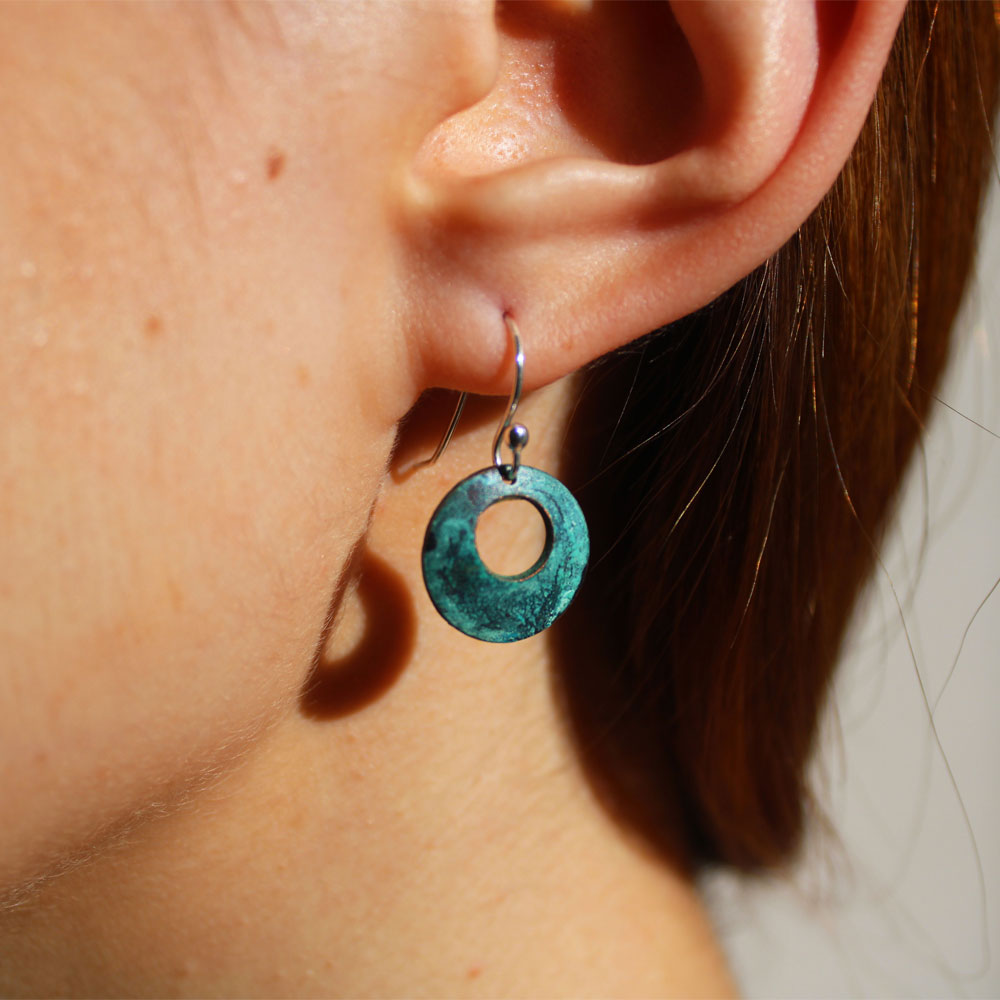 Small Turquoise Dome Earrings