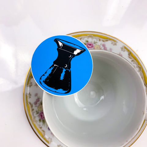 Blue Chemex Sticker
