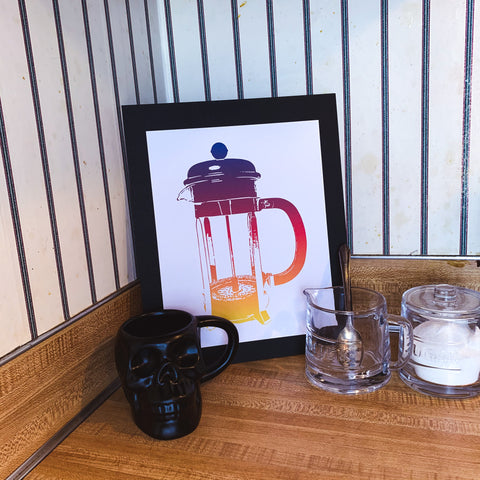 French Press Print 12 x 10