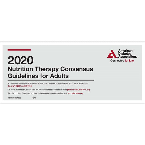 2020 Nutrition Therapy Consensus Guidelines Pocket Chart