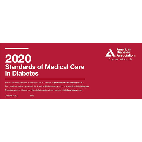 2020 Standards of Medical Care in Diabetes Pocket Chart