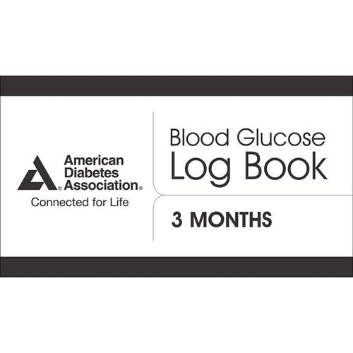 ADA Blood Glucose Log Book, 3rd Edition (4-pack)