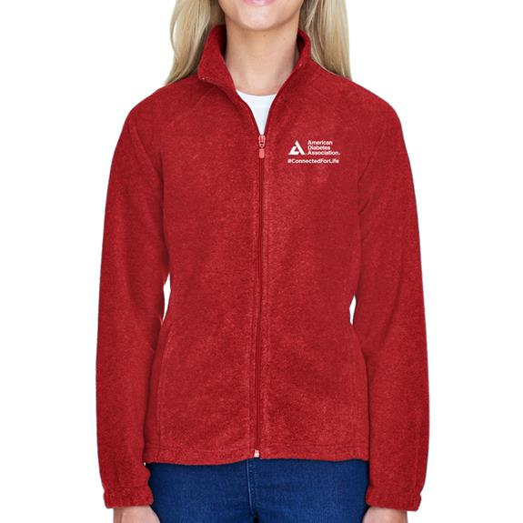 American Diabetes Association Red Microfleece Jacket, Women's