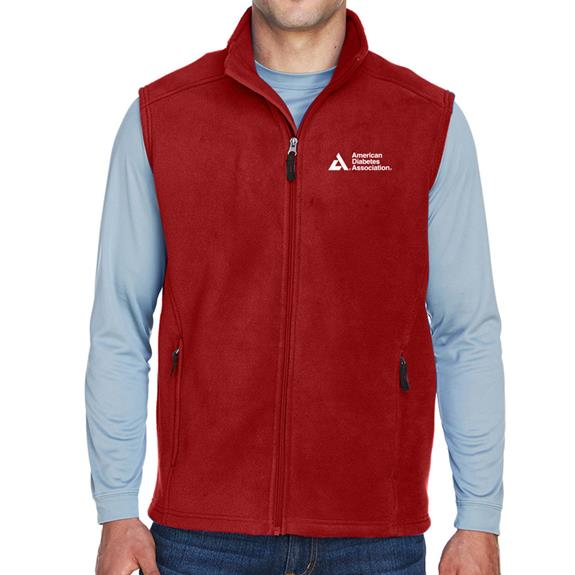 American Diabetes Association Men's Red Fleece Vest