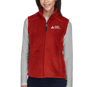 American Diabetes Association Women's Red Fleece Vest