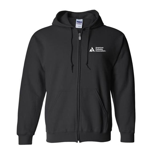 American Diabetes Association Black Unisex Full Zip Hoody