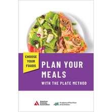 Load image into Gallery viewer, Choose Your Foods: Plan Your Meals with the Plate Method, 3rd Edition (25/Pkg)