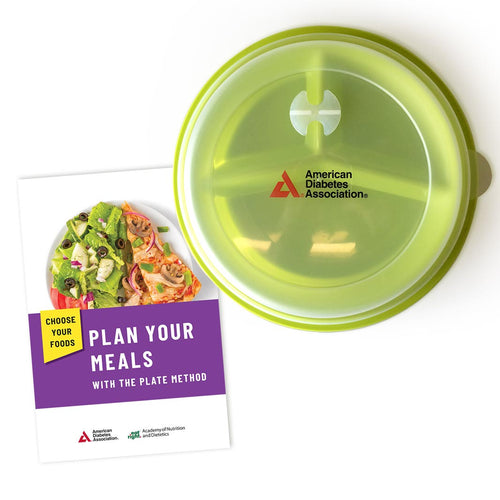 SET: Choose Your Foods: Plan Your Meals with the Plate Method (25/Pkg) & Portion Control Plate with Lid
