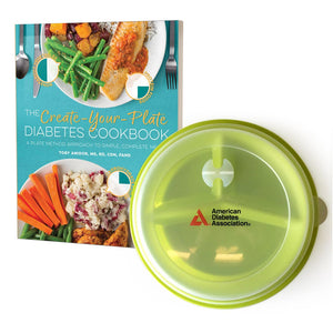 SET: Create Your Plate Cookbook & Portion Control Plate