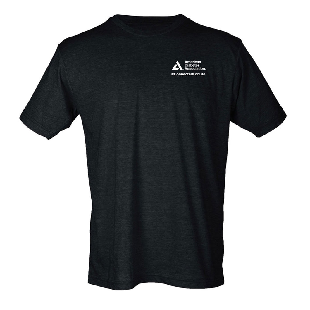American Diabetes Association Unisex Classic-Fit T-Shirt with #ConnectedForLife Logo