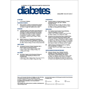 Diabetes Journal, Volume 69, Issue 1, January 2020