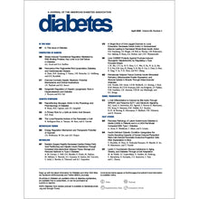 Load image into Gallery viewer, Diabetes Journal, Volume 69, Issue 4, April 2020