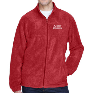 American Diabetes Association Red Microfleece Jacket, Men's