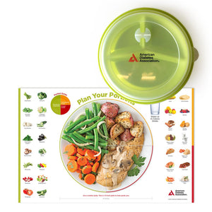 SET: Diabetes Placemat Sample Pack & ADA Portion Control Plate