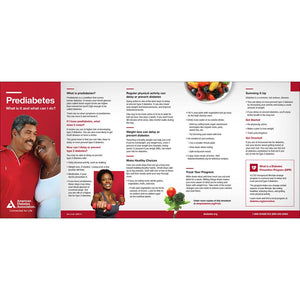 Prediabetes: What is it and What Can I Do? Brochure (Bilingual) (50/pkg)