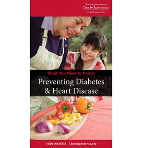 What You Need to Know: Preventing Type 2 Diabetes & Heart Disease Brochure (50/Pkg)