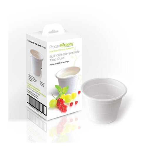 Compostable Portion Control 10oz Cups (25/Box)