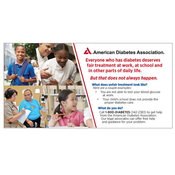 How To Get Help with Diabetes Discrimination Postcard (25/Pkg)