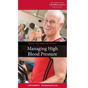 What You Need to Know: Managing High Blood Pressure Brochure (50/Pkg)